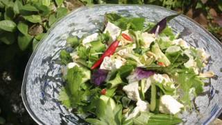 島豆腐と島野菜のアジアンサラダ:レシピ