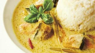 タイ風しまかぼちゃとエビのオレンジカレー:レシピ